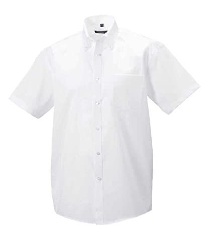 Russell Collection Absolut bügelfreies Kurzarm-Hemd R-957M-0 L,White