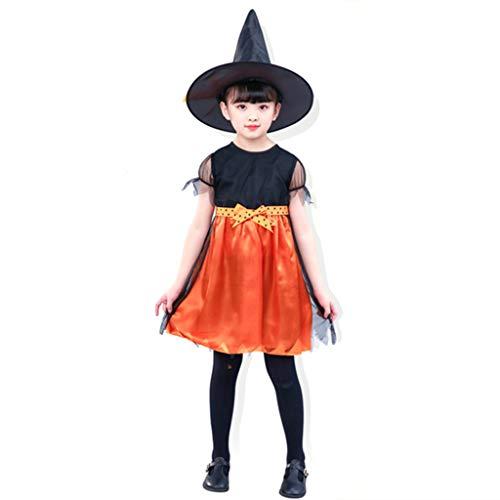 Spiderella' Kostüm Mädchen - MENGZHEN Mädchen Hexenkostüm, Halloween Spiderella Outfit Mädchen Hexenkostüm Glamour Queen Kids Halloween Kleid mit Hut