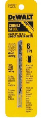 DEWALT ACCESSORIES - U-Shank Wood-Cutting Jigsaw Blades, 5-Pk., 4-In., 6-TPI (Cutting Blade Jigsaw)