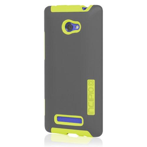 Incipio Dualpro Schutzhülle für HTC 6990/Windows Phone 8X, 1 Stück, Dark Gray/Yellow Htc 6990 Windows Phone