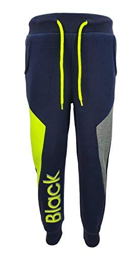 Fashion Boy Warme Bequeme Jogginghose, Freizeithose in Blau, Gr. 98, J118.2