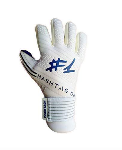 #1 Hashtagone Endboss Blue Torwarthandschuhe für Erwachsene & Kinder - Größe 9,5 - entwickelt vom Torwart Bundesliga Profi - Tormannhandschuhe Herren, Kinder (Größe 9,5 Endboss Blue)