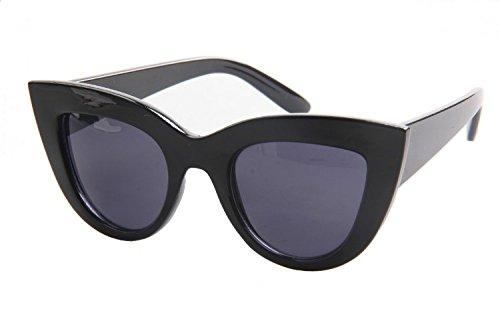 SojoS Moda Classic Celebrity Bold spessa delle signore delle donne di gatto occhiali da sole occhi SJ2939 Con Nero Telaio/Grigio