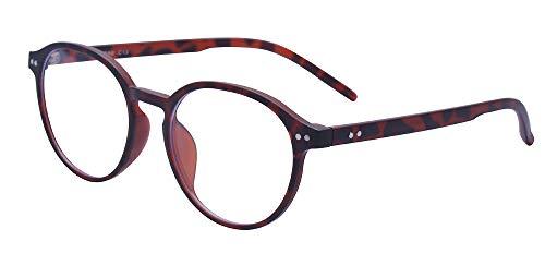 ALWAYSUV Klassische Brillenfassung Nerdbrille Transparent Brille mit Fensterglas