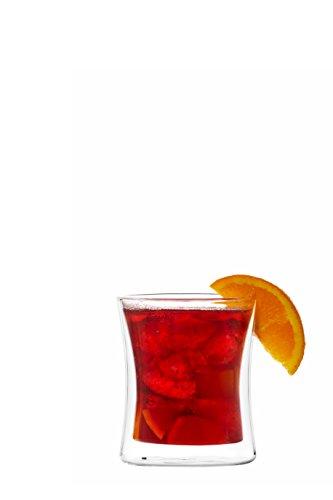 YEM 6 x 350ml doppelwandige Thermo-Gläser, für Latte Macchiato, Cocktails, Desserts, Tee Glas-Set, Doppelwandgläser, Sunny -