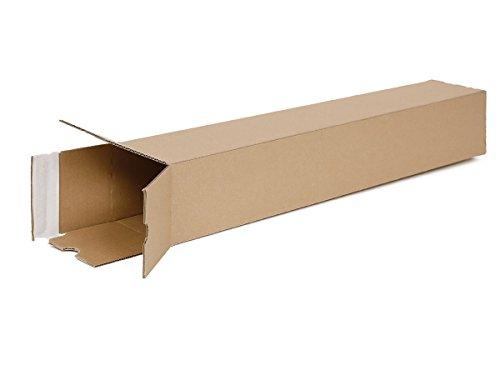 20 Versandhülsen eckig DIN A1 | Papprolle 610x105x105mm Versand ohne Sperrgutzuschlag | wählbar zwischen 10 – 1600 Versandrollen
