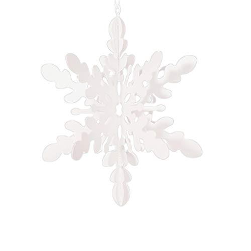 Busirde Weihnachten 3D Ausgehöhlte Schneeflocke hängen Anhänger Neujahr Weihnachtsbaum Hochzeit Geburtstag Partei-Dekoration Abschnitt C (C Abschnitt Kostüm)