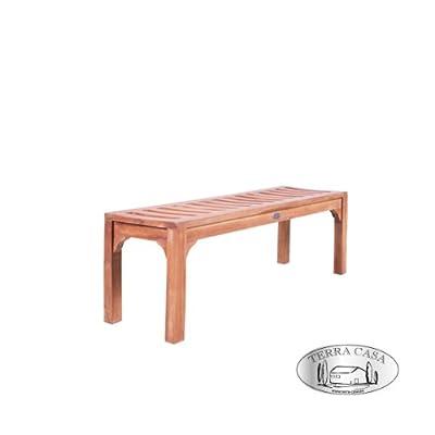Gartenmöbel Gartenbank BEKASI Sitzbank 2-Sitzer 120 cm Bank Teakholz Teak Premiumqualität