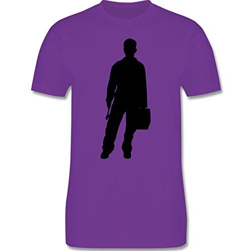 Handwerk - Installateur - Herren Premium T-Shirt Lila
