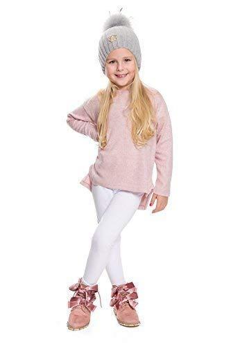 hi!mom - Kinder Winterleggings - aus Baumwolle - lang - Thermomaterial - für jedes Alter - CHILD28 - Weiß - 9-10 Jahre