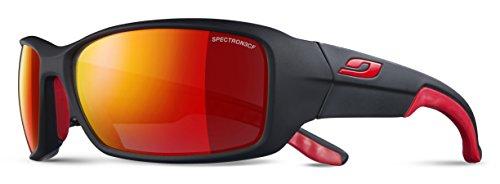 Julbo Run Sonnenbrille Unisex Erwachsene, schwarz/rot