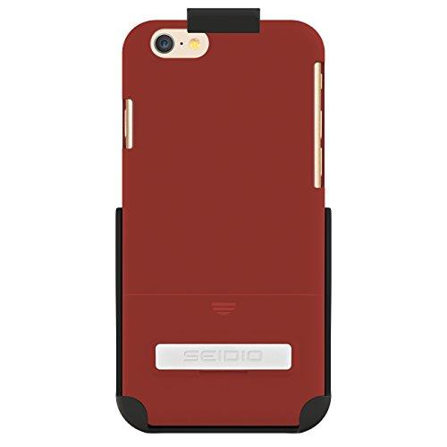 Seidio Surface Schutzhülle mit metallischenKickstand Combo für Apple iPhone 6 granatrot - Seidio Holster-design