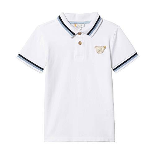 Steiff Baby-Jungen Poloshirt T-Shirt, Weiß (Bright White 1000), 86