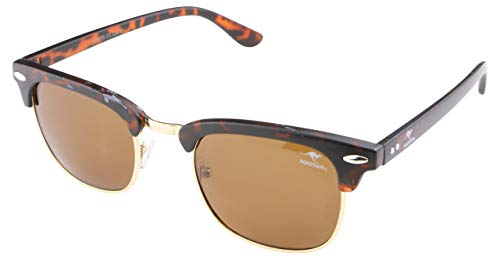 ROADSIGN Sonnenbrille Unisex UV 400 SchutzI Modell Clubmaster I Glasfarbe: braun