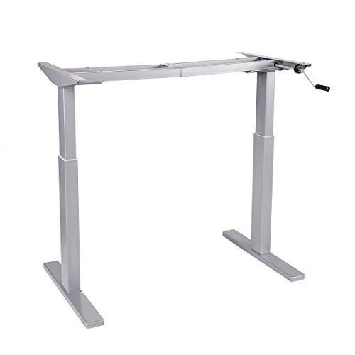 Flexispot H2S Höhenverstellbarer Schreibtisch Kurbelverstellbares Tischgestell, Passt für Alle Gängigen Tischplatten.