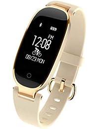 HOYHPK Bluetooth Smart Band Monitor De Ritmo Cardíaco Impermeable Mujeres  Reloj De Pulsera Monitor De Sueño 72f357ea3cbd