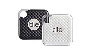 Tile Pro con pila reemplazable - Buscador de llaves. Buscador de teléfonos. Buscador de cualquier cosa - paquete de 2 (1 x Negro, 1 x Blanco)