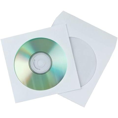 Pack 50 Ud Sobre Para Cd-dvd Q-connect Con Ventana Transparente Y Solapa