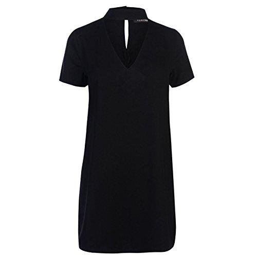 Firetrap Damen Blackseal Choker Kleid Minikleid Black L
