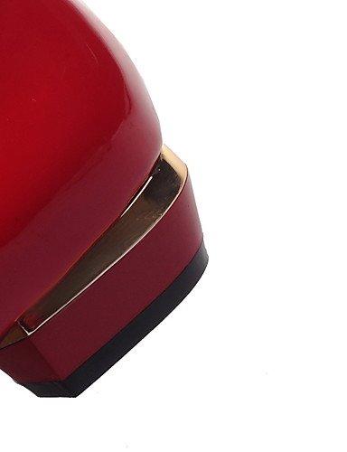 WSS 2016 Chaussures Femme-Extérieure / Bureau & Travail / Décontracté-Noir / Rouge-Talon Bas-Confort / Bout Pointu / Bout Fermé-Talons-Polyuréthane black-us6.5-7 / eu37 / uk4.5-5 / cn37