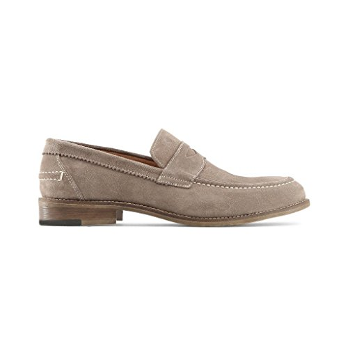 Made in Italia - LAPO Mocassins Homme Glisser Sur Penny Loafer Chaussures Gris