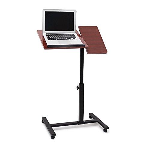 Relaxdays portátil de la mesa de altura regulable de H x B...