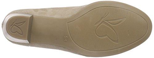 Caprice 22308, Chaussures à talons - Avant du pieds couvert femme Beige - Beige (SAND SUEDE 360)