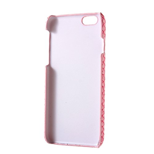 Pour iPhone 6 Plus / 6s Plus, Snakeskin Texture Hard Back Cover Housse de protection arrière YAN ( Color : Beige ) Pink