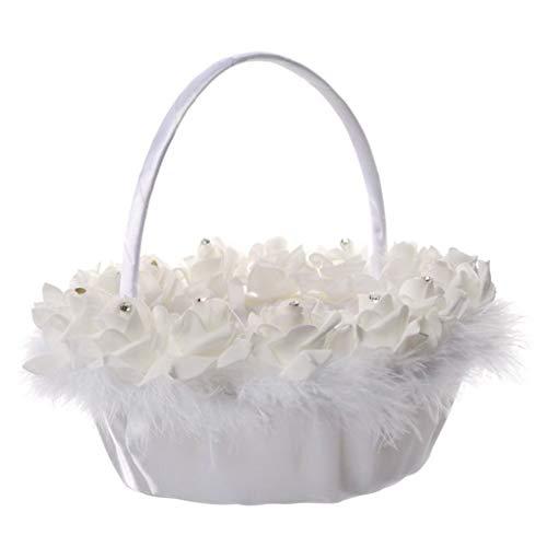Windy5 Hochzeit PE-Blumen-Feder-Süßigkeit-Mädchen-Korb Zeremonie-Partei-Dekoration Blumen Süßigkeit Braut Korb