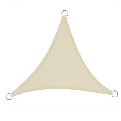 Greenbay Voile d'ombrage Triangulaire | 5x5x5m Crème | Une Protection des Rayons UV | Toile d'ombrage Auvent Pare-Soleil de Jardin