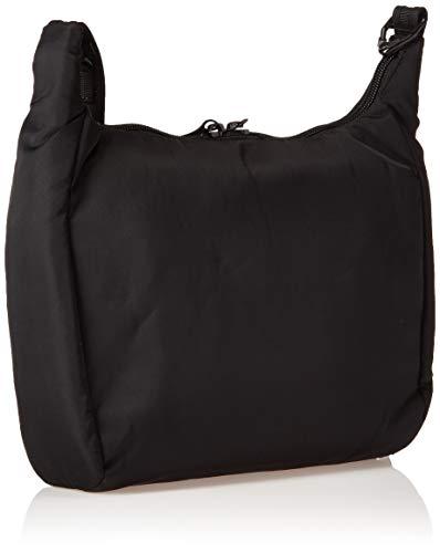 Pacsafe Citysafe CS100 Anti-Diebstahl Nylon Umhängetasche für Damen, Schultertasche mit Diebstahlschutz, Sicherheits-Features - 5L Uni, Black/Schwarz