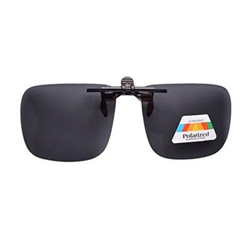 OFT Flip-up Polarisator Blend Gläsern Sonnenbrillen-Clip Brille Sun-Clip Driving für Brillenträger (L, Grau)
