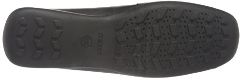 Geox Euro D, Mocassini Donna Nero (Black)