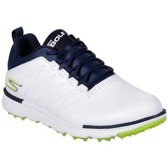 Skechers Performance Go Golf Elite 3 - Scarpe da Uomo, Uomo, White/Navy/Lime, 9,5 UK/EUR 44 / US 10,5