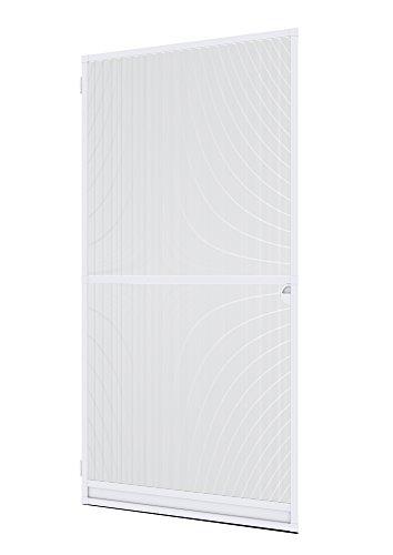Windhager Insektenschutz Spannrahmen Expert Fliegengitter Alurahmen für Türen, individuell kürzbar, 100 x 210 cm, weiß, 04330