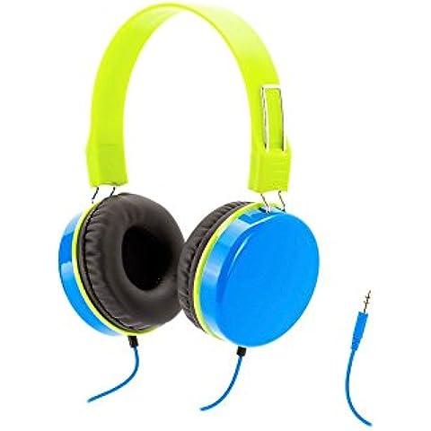 Griffin GC36539 - Auriculares de diadema cerrados (3.5 mm, reducción de ruido), azul