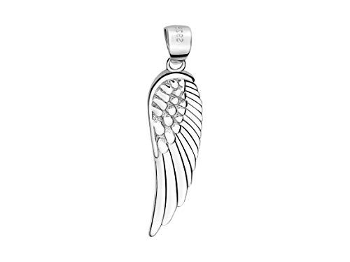 Sofia Milani Damen Anhänger Flügel Feder 925 Silber 60019
