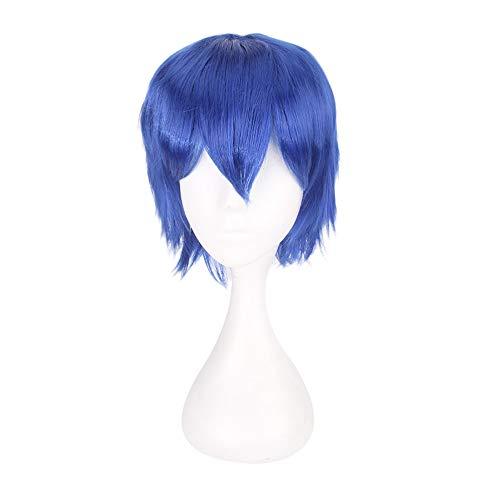 serliy Multi Farbe kurze glatte Haare Perücke Anime Party Cosplay Voller Verkauf Perücken 35cm (Blau) (Blaue Perücken Für Verkauf)