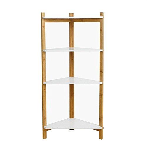 Nan 4-Tier Bücherregal Bambus Eckregal Eckregal Regale für Wohnzimmer, Küche, Badezimmer, Dusche Regale (4-tier-bücherregal)