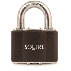 4-Pin Tumbler Garage Padlock - Laminated Steel 50mm