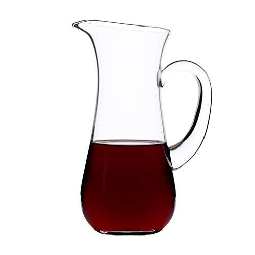 Classic Rot Weindekanter Dekanter Wein karaffe | 1000 ML Hochwertig Dekantier | Harmony Kollektion | Dekantierer Glaskaraffe Dekantierkaraffe | Perfekt für zu Hause, Restaurants und Partys