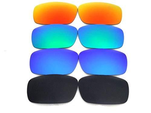 Galaxis Ersatzgläser für Oakley Fuel Cell Polarisierend Schwarz/Blau Grün Rot - S, Regular