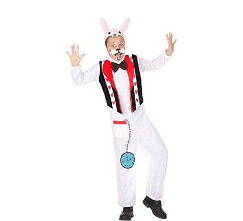 ATOSA 56866 COSTUME BUNNY 3-4 Jungen Weiss/Schwarz/Rot 3 a 4 años (Für Teens Bunny-kostüm)