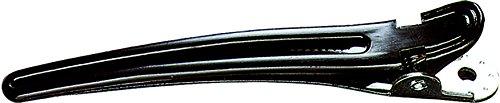 Fripac-Medis Haarclips Combi-Clips (Abteilklammern), Haarklammern zum Festklemmen und Abteilen einzelner Haarpartien, 10 Stück à 9,5 cm, schwarz