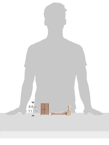 beluga 70116 - Mobili per camera da letto per casa delle bambole