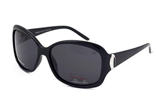 f8f766679f1d Genuine Roberto Marco Polarisierte Sonnenbrille für Frauen Treiber Schwarz  Kunststoffrahmen, Hellgraue Gläser, Blendschutz,