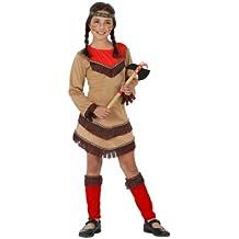 Atosa - Disfraz de indio para niña, talla 3 - 4 años (23801)