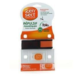 Zen'sect - Répulsif moustiques bracelet proctecteur + 2 recharges parfum citronnelle