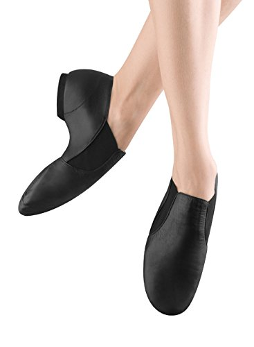 Bloch Dance Girl's Elasta Bootie Jazz Shoe, Black, 11.5 M US (Toddler/Youth)