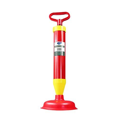 WC-Kolben, leistungsstarker Hochdruck-Abwasserkanal-Bagger WC-Saug-WC-Baggerwerkzeug Ein Pistolen-Pass-Rohr-Bagger Vakuumgeeignet Sicherer Halter-Abflusskolben für Badezimmer-Badewannenduschen